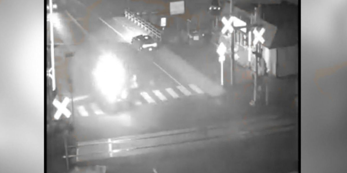 CAUGHT ON CAMERA: Car explodes going down road, man pulls driver to safety