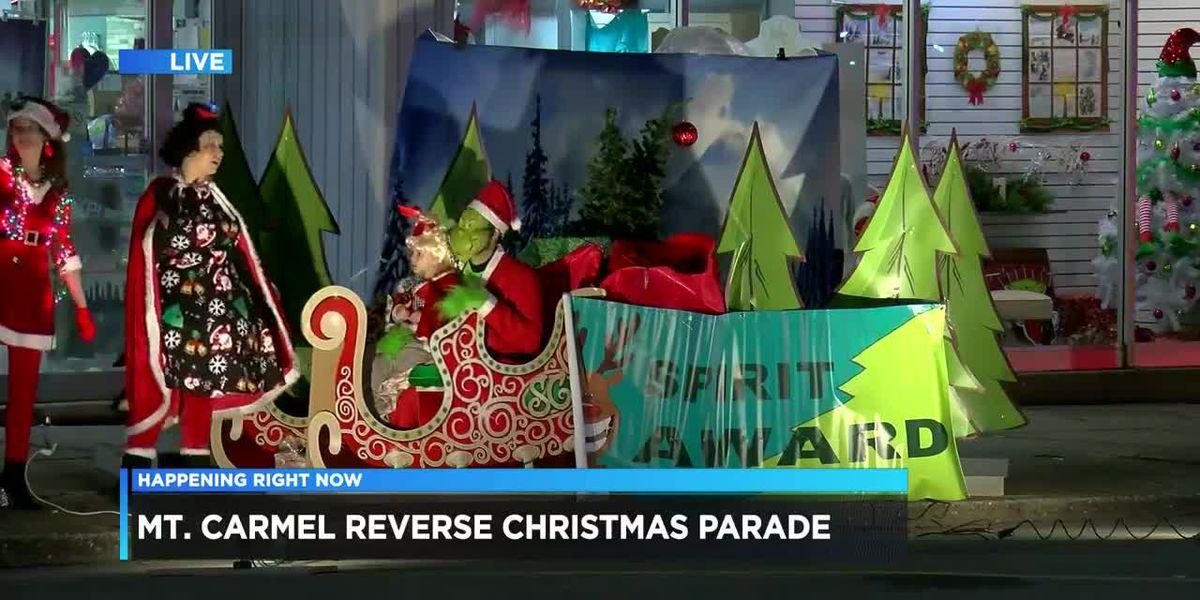 Mt. Carmel holds reverse Christmas Parade