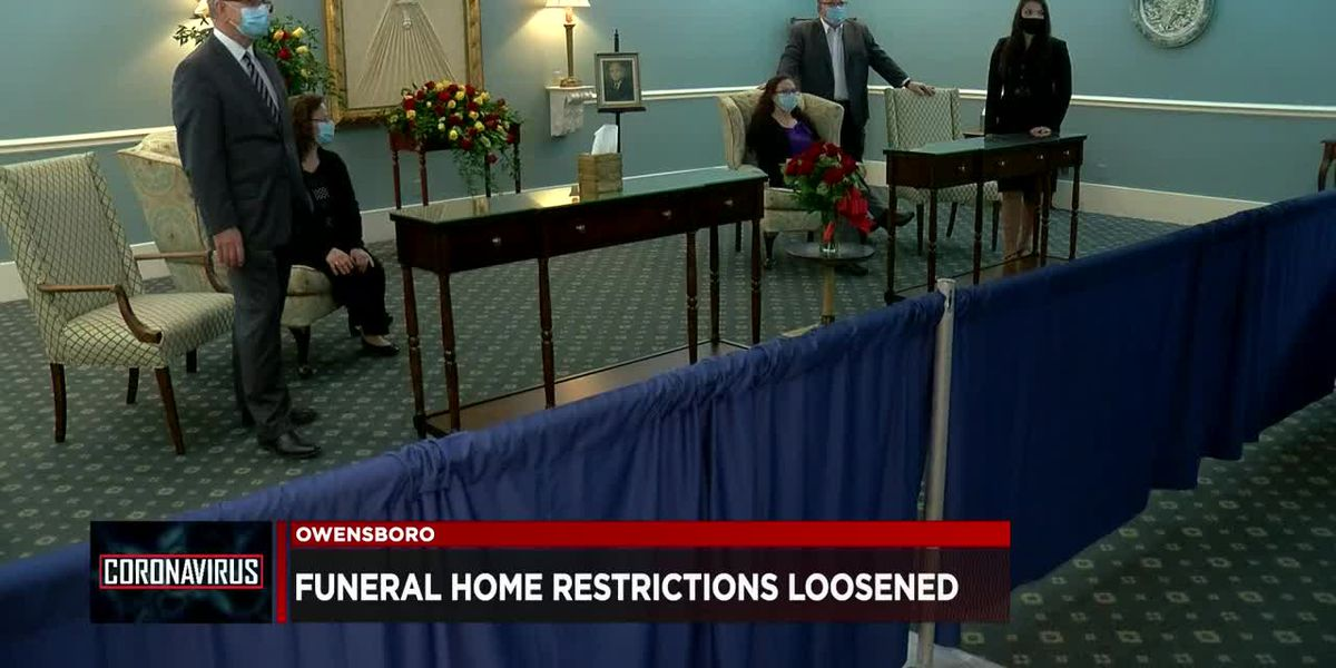 Kentucky loosens funeral, memorial service restrictions