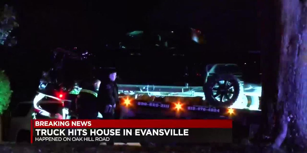 Truck hits home in Evansville