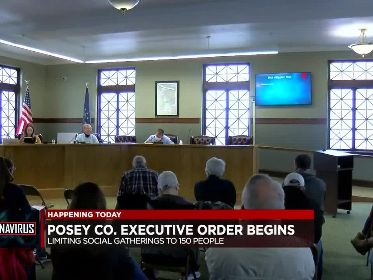 New COVID-19 restrictions in Posey Co. begins, limiting gatherings to 150