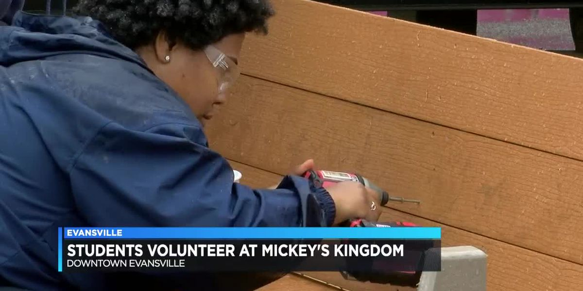 Students volunteer to help build Mickey's Kingdom