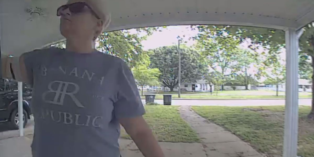 Suspect caught on camera taking package from mailbox