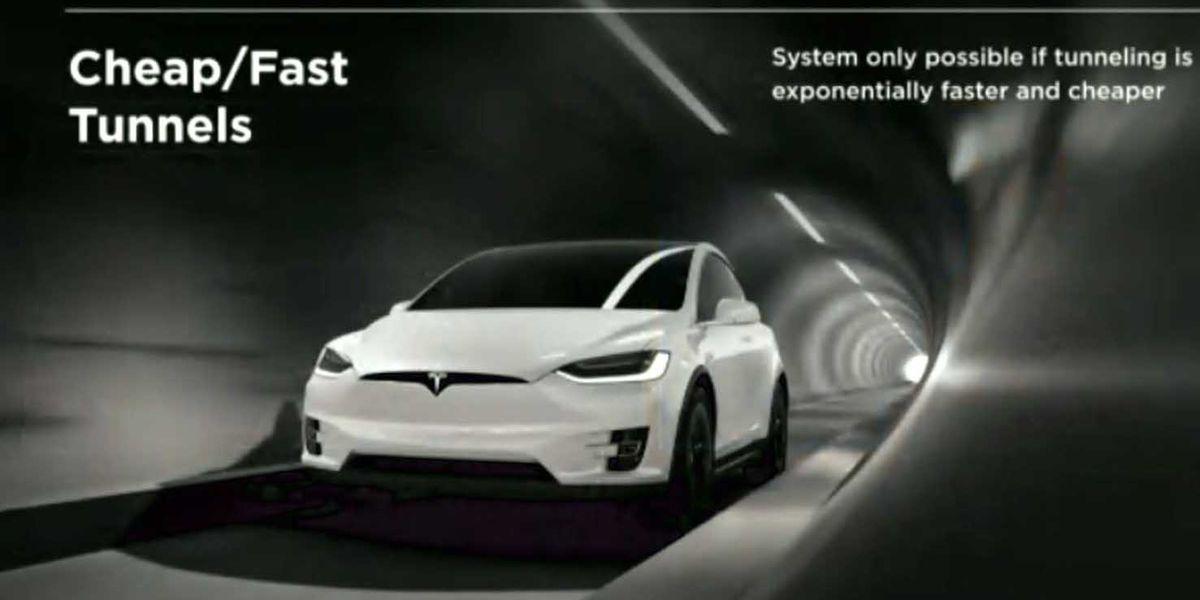 Elon Musk unveils prototype for underground highways
