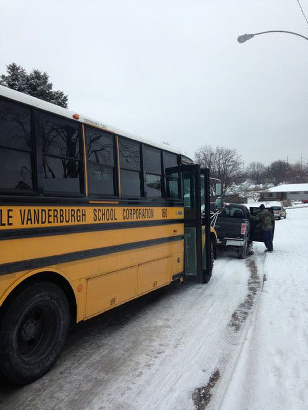 Evsc Bus Gets Stuck On The Way To School