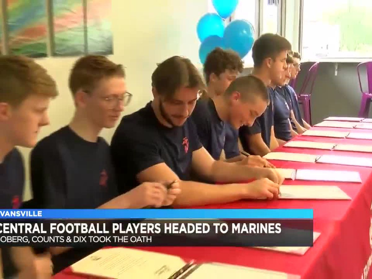 Central football players enlist in the Marine Corps
