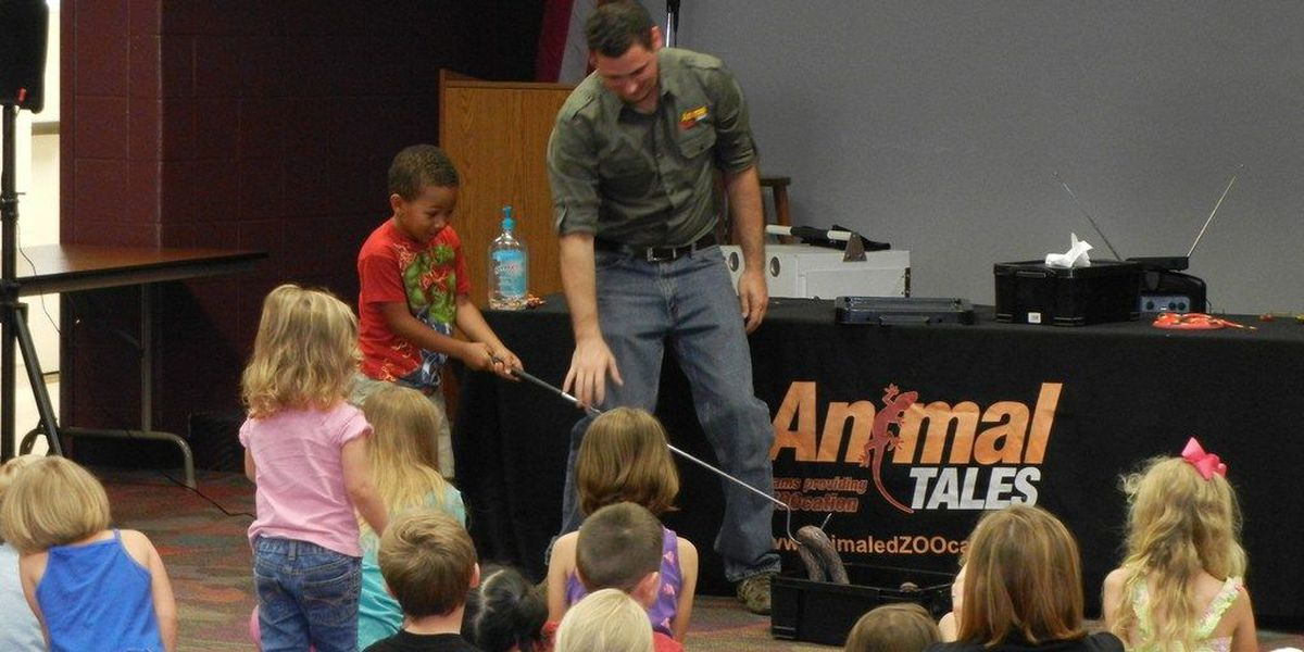 Animal Tales arrives at the Evansville Vanderburgh Co. Public Library