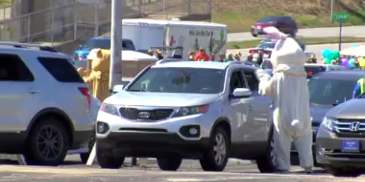 West Side Nut Club holds drive-thru Easter egg hunt