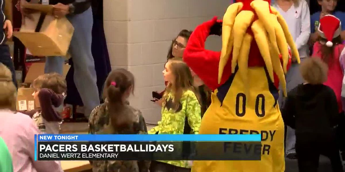 Pacers surprise Daniel Wertz Elem. students