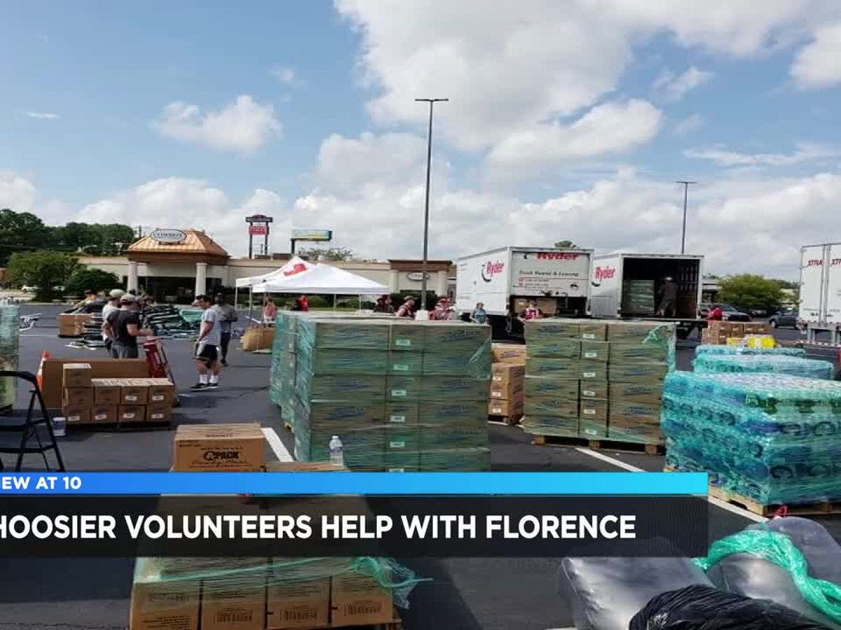 Red Cross volunteers from Indiana helping after Hurricane Florence