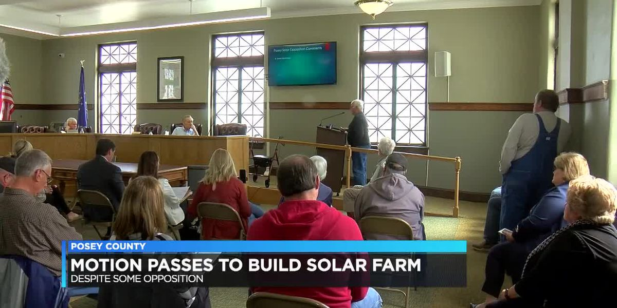 Posey Co. Commissioners vote to keep solar ordinance the same