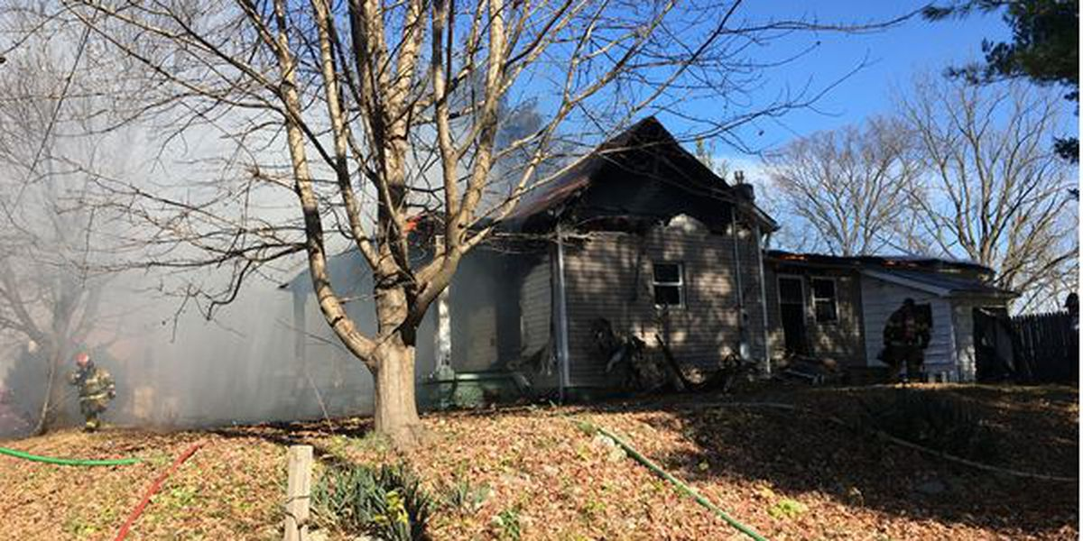 Wadesville home fully engulfed in fire when crews arrive