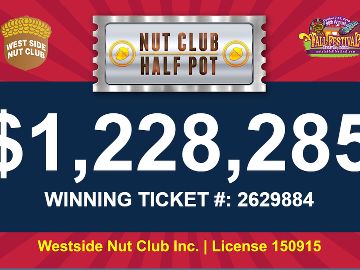 Winning ticket announced for the West Side Nut Club Half Pot