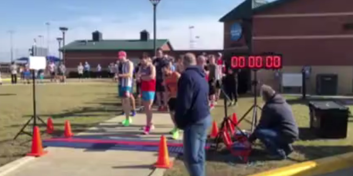 Dozens participate in President's Day 5k at Deaconess Sports Park