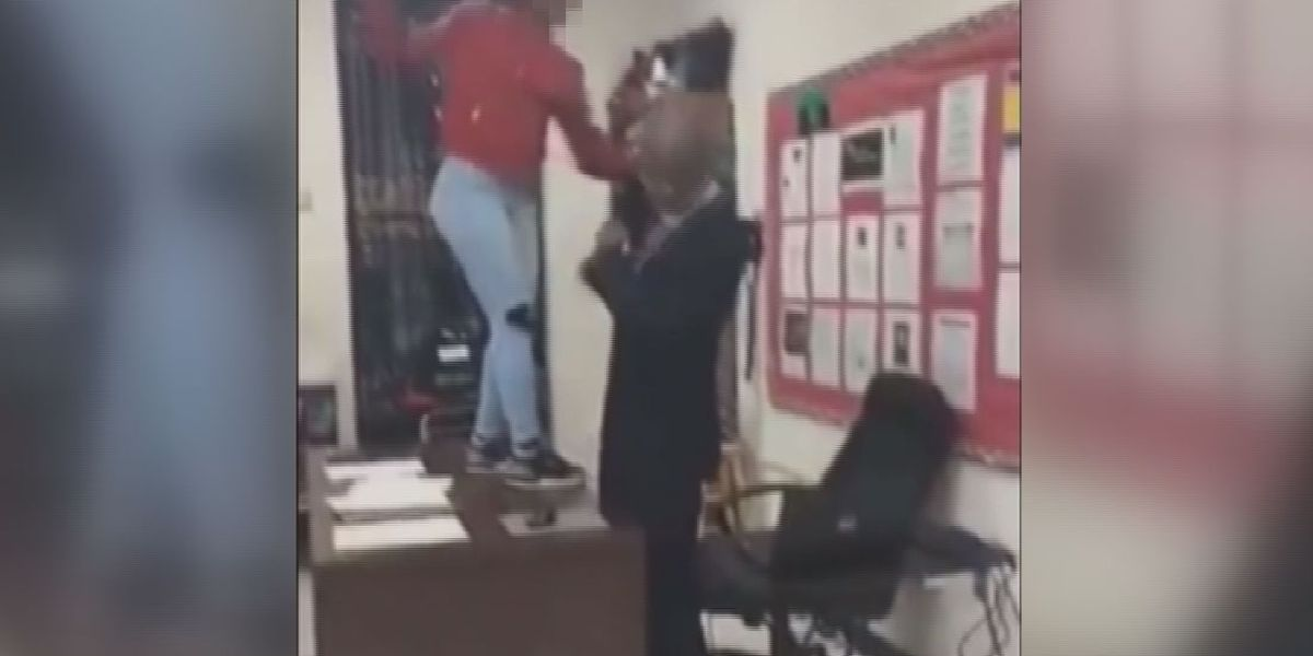 UPDATE: SC student in social media video taunting teacher atop desk gets suspended