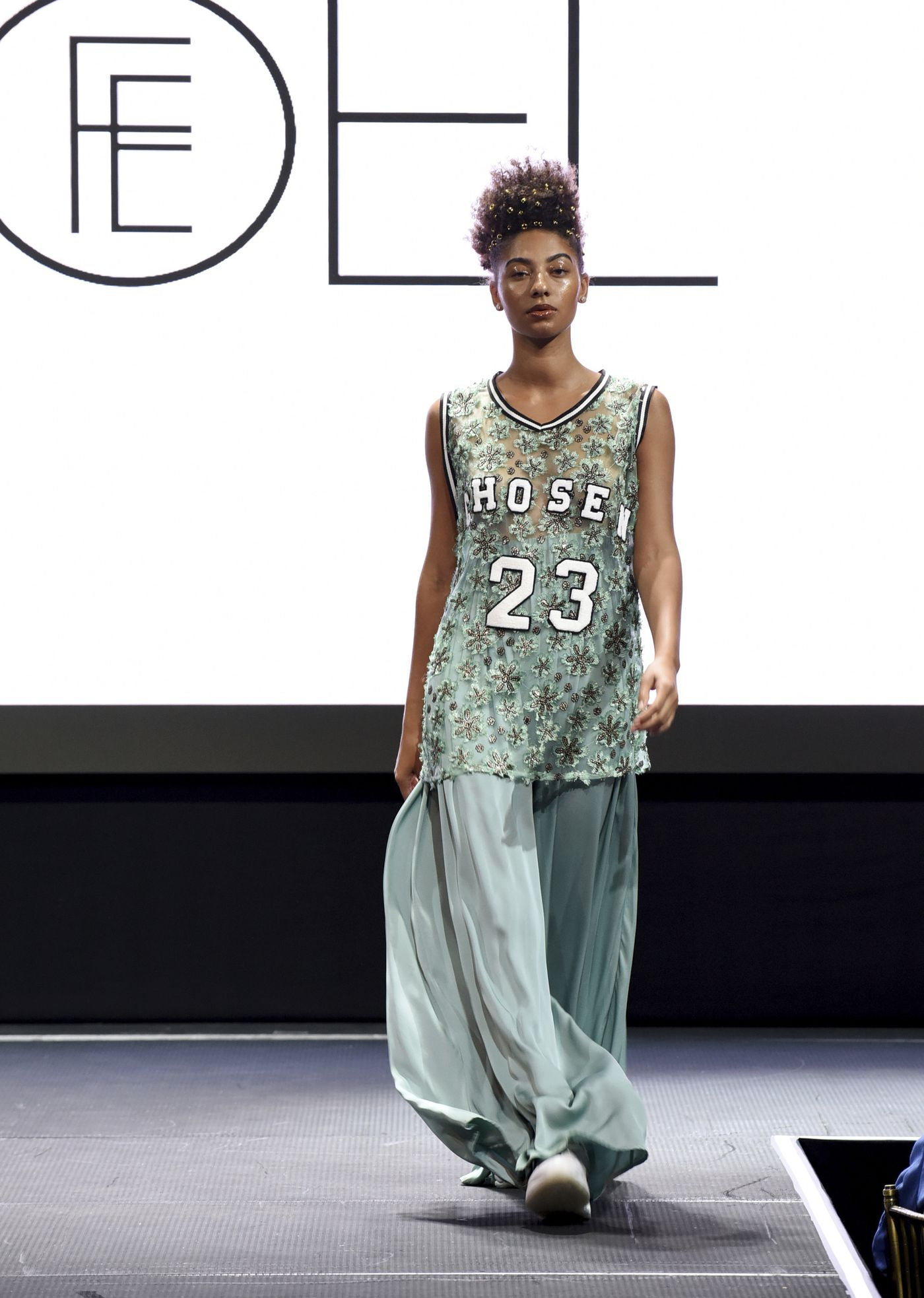 fe327d6b8f8 The Fe Noel collection is modeled at the Harlem Fashion Row show and awards  ceremony before