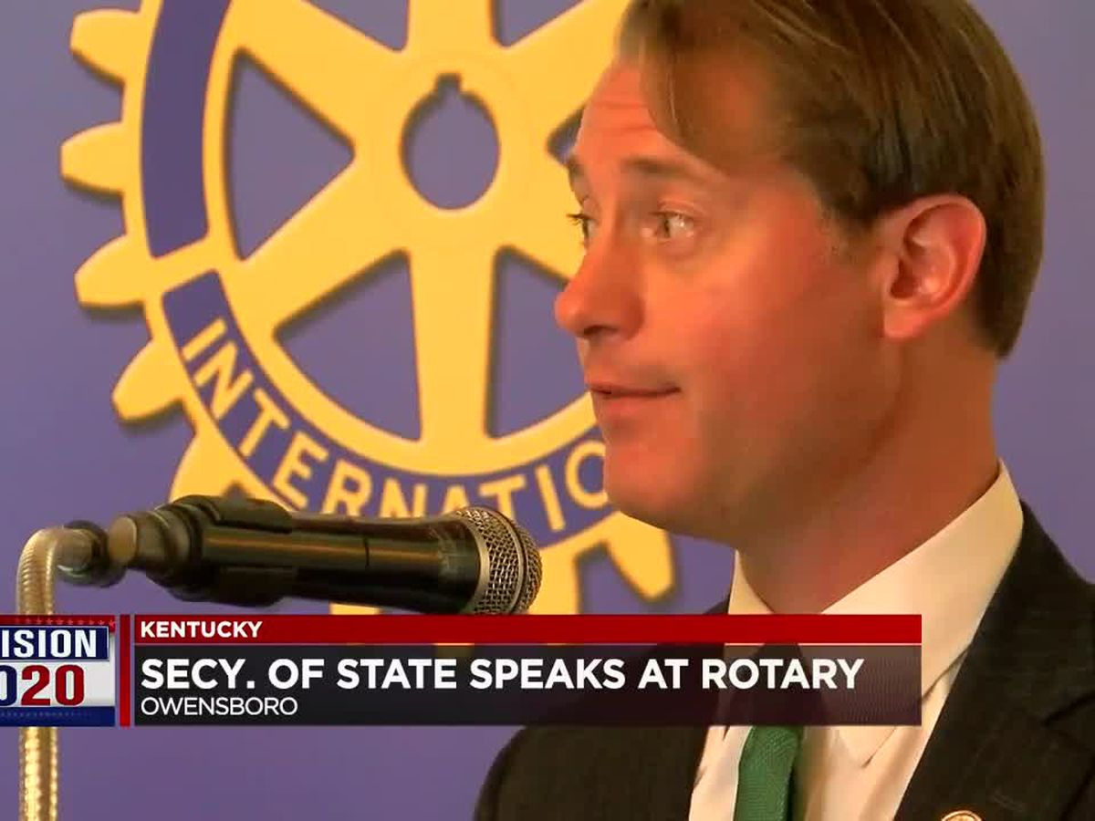 KY Secretary of State speaks at Owensboro Rotary Club