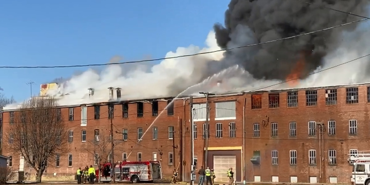 Large fire at old Swiss Plywood building in Tell City