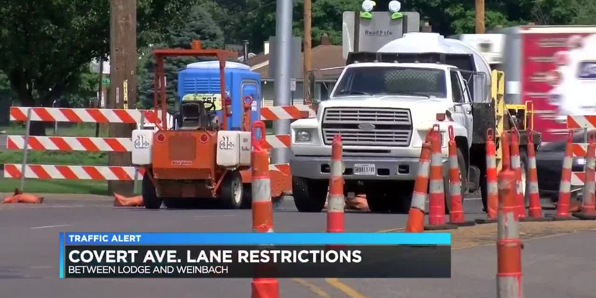 Traffic Alert: Lane restrictions in place on Covert Ave