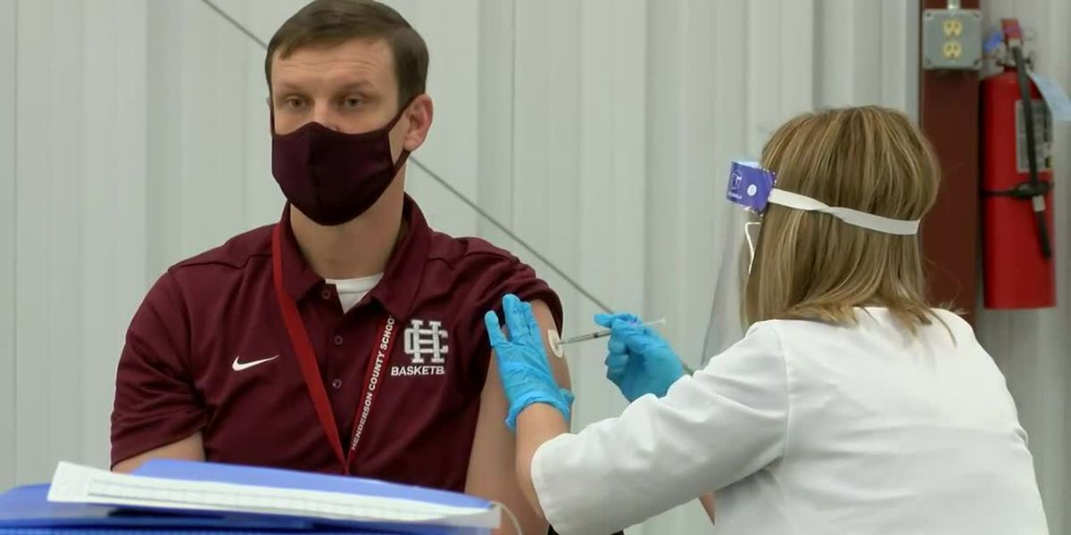 Educators receive Moderna vaccine in Henderson Co.