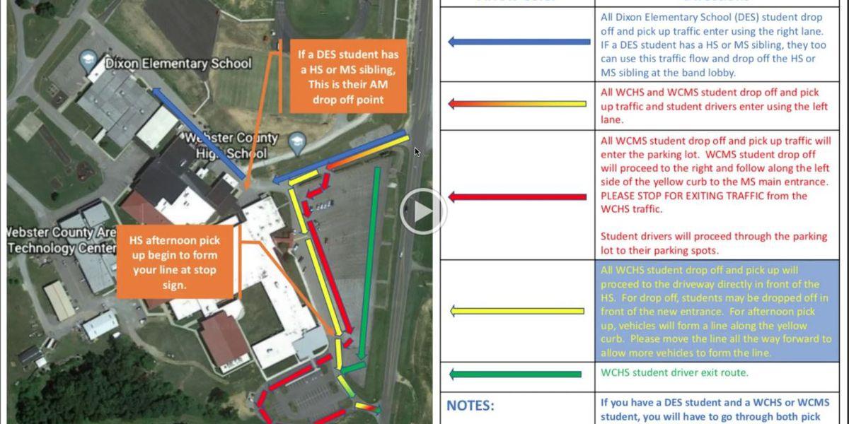 New traffic pattern starts at school campus in Dixon