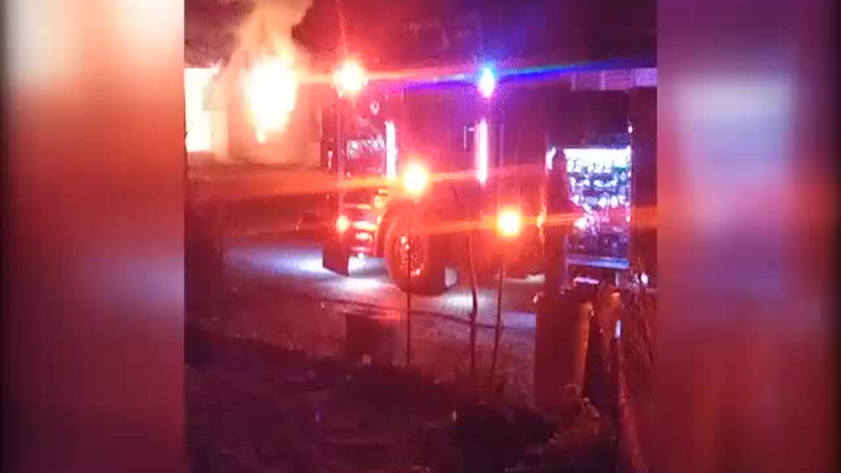 Viewer video of house fire in Henderson