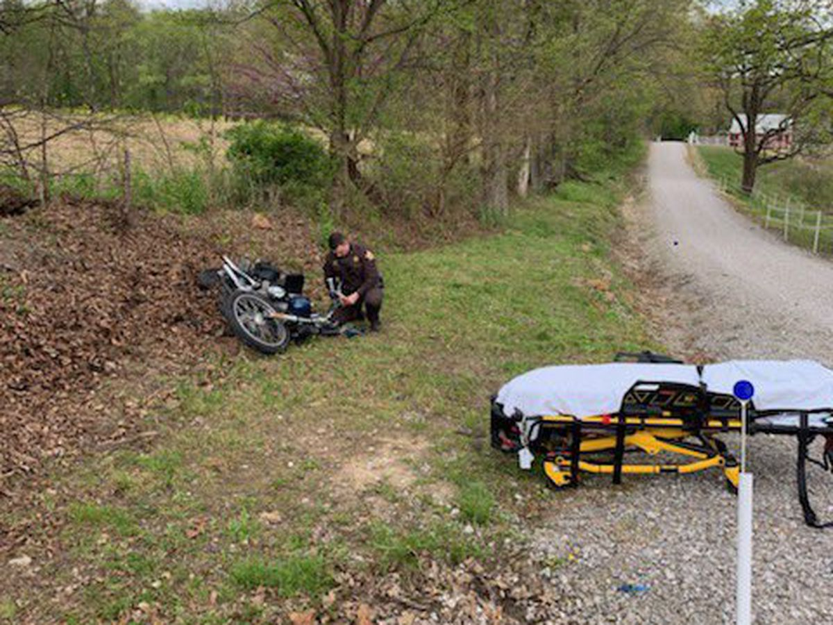 Roadway back open following single motorcycle crash in Vanderburgh Co.