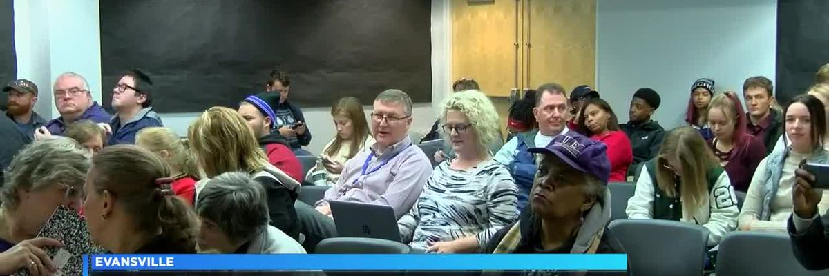 EVSC School Board discusses possible tax at Mon. night's meeting
