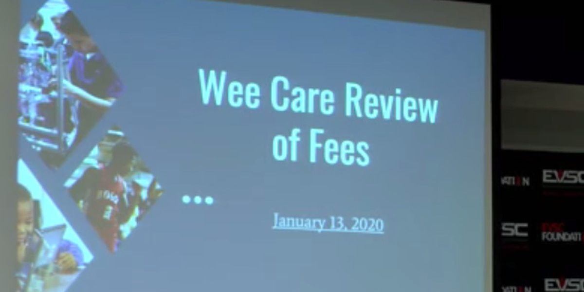 Proposal to increase Wee Care costs for EVSC employees