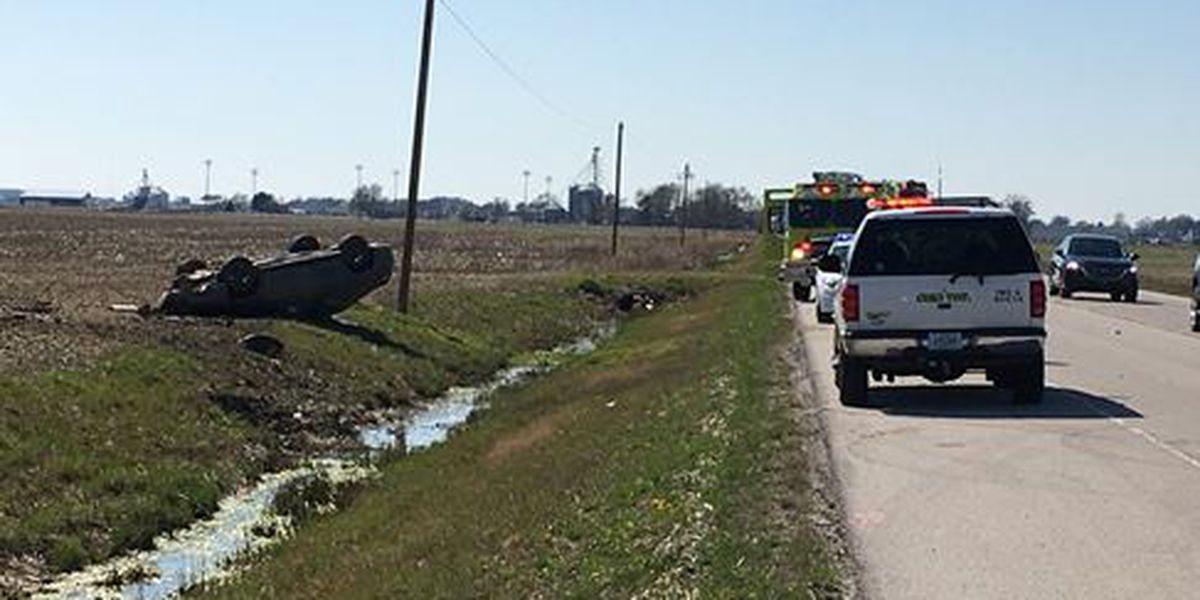 Woman and baby hurt in rollover crash