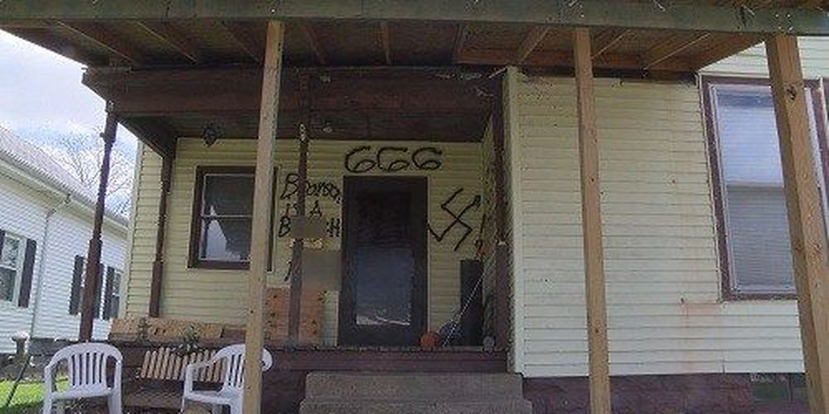 Police investigating after graphic messages spray painted on Mt. Carmel home