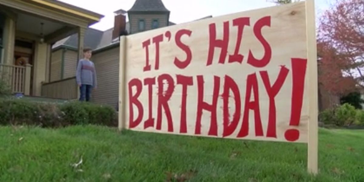 Local boy celebrates 'stay-at-home' birthday