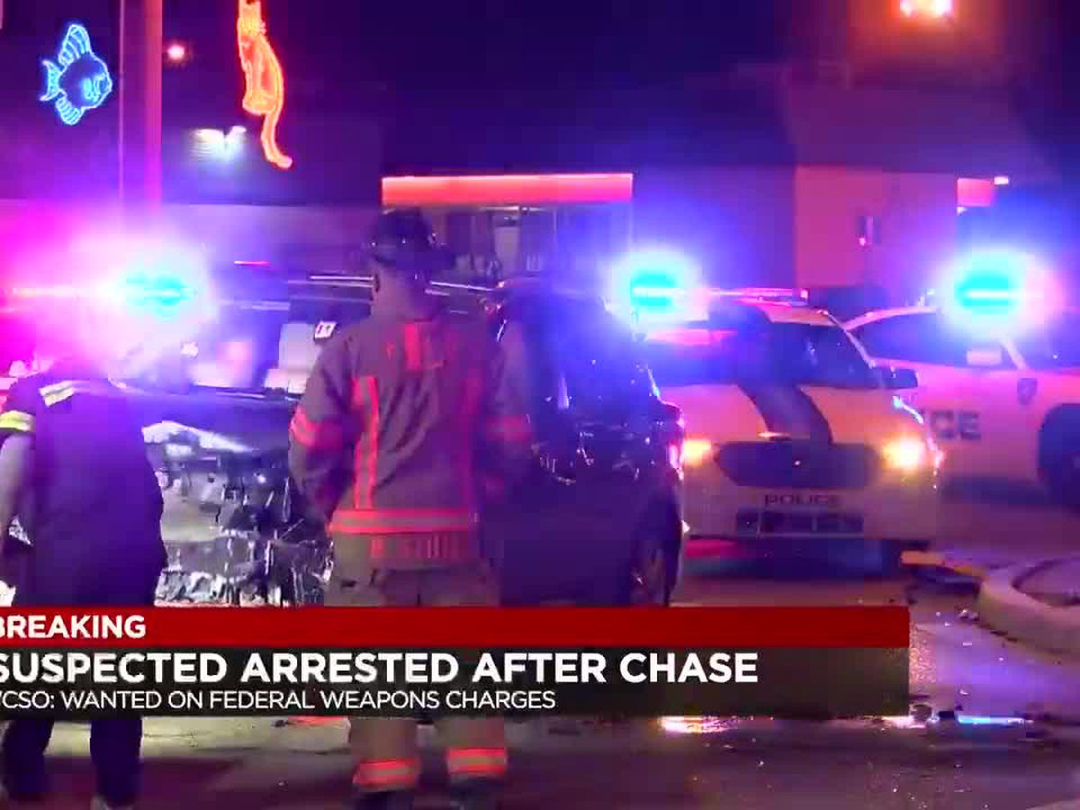 Deputies: Suspect caught after chase and crash