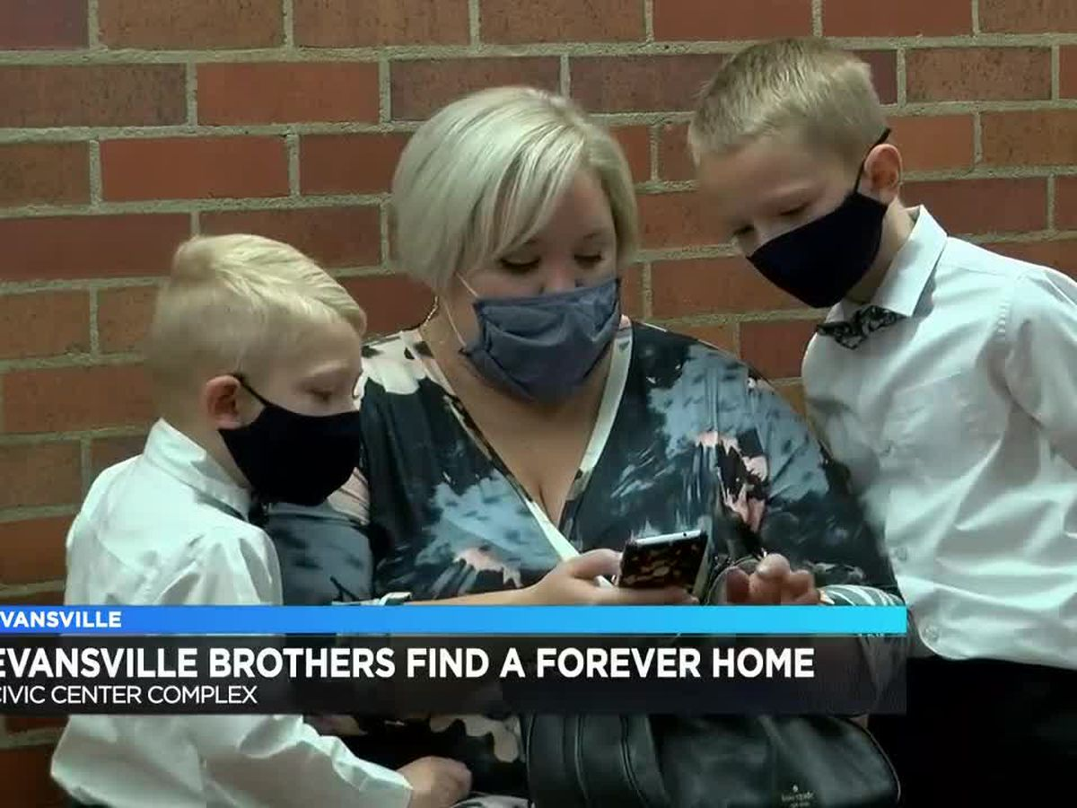 Evansville brothers find a forever home