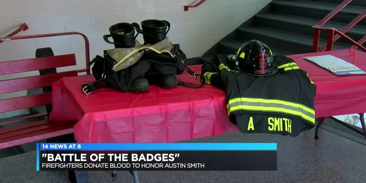 Firefighters donate blood to honor one of their own