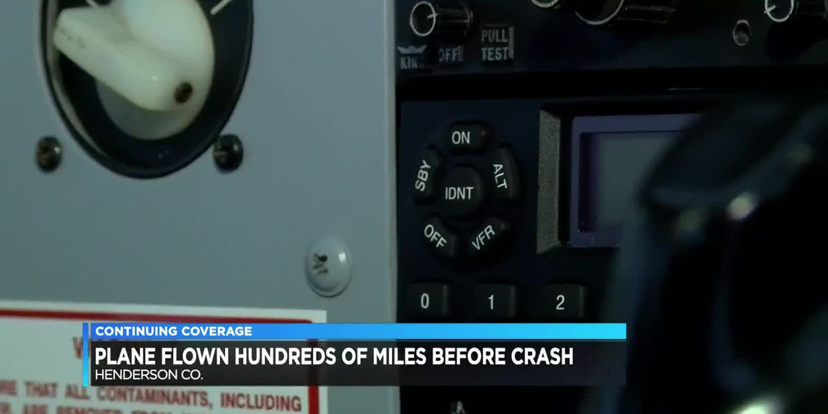 Plane flown hundreds of miles before crash