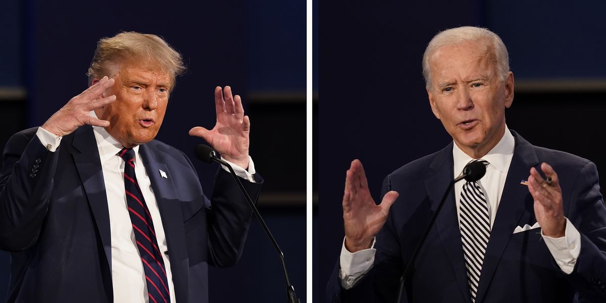 Biden, Trump snipe from road and rails after debate chaos