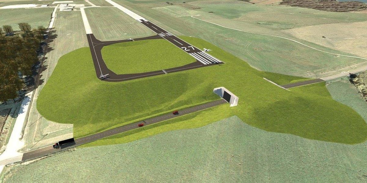Huntingburg airport breaks ground on extension project