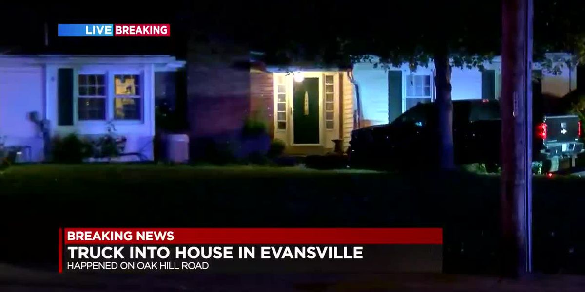 Truck hits home in Evansville, section of Oakhill Rd closed