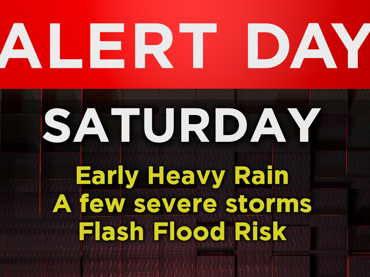 Alert Day extended to Saturday for wind and heavy rain