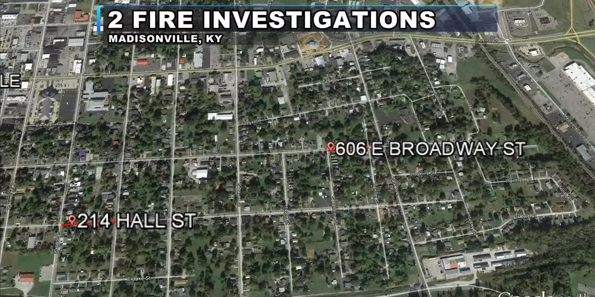 Madisonville fire officials investigating 2 fires, just blocks apart