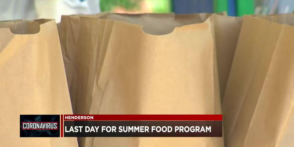 Henderson Co. Schools' summer feeding program ends Thur.