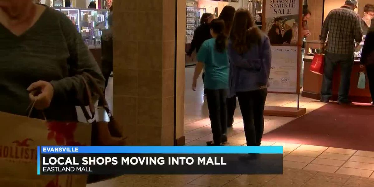 Local shops are slowly moving into Eastland Mall