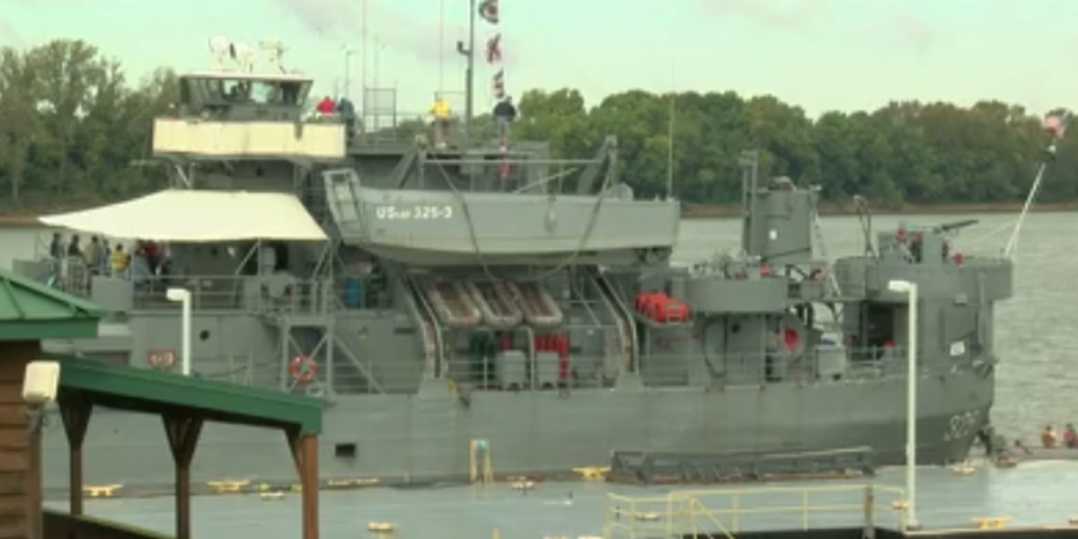 LST 325 docks in front of Tropicana, offering free tours for 75th D-Day anniversary
