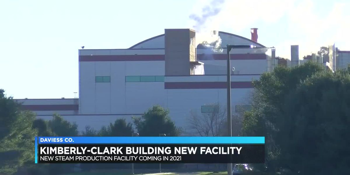 Kimberly-Clark building steam production facility in Owensboro