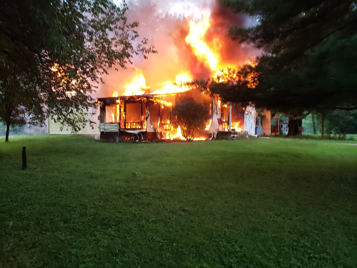 Early morning fire sends one person to hospital