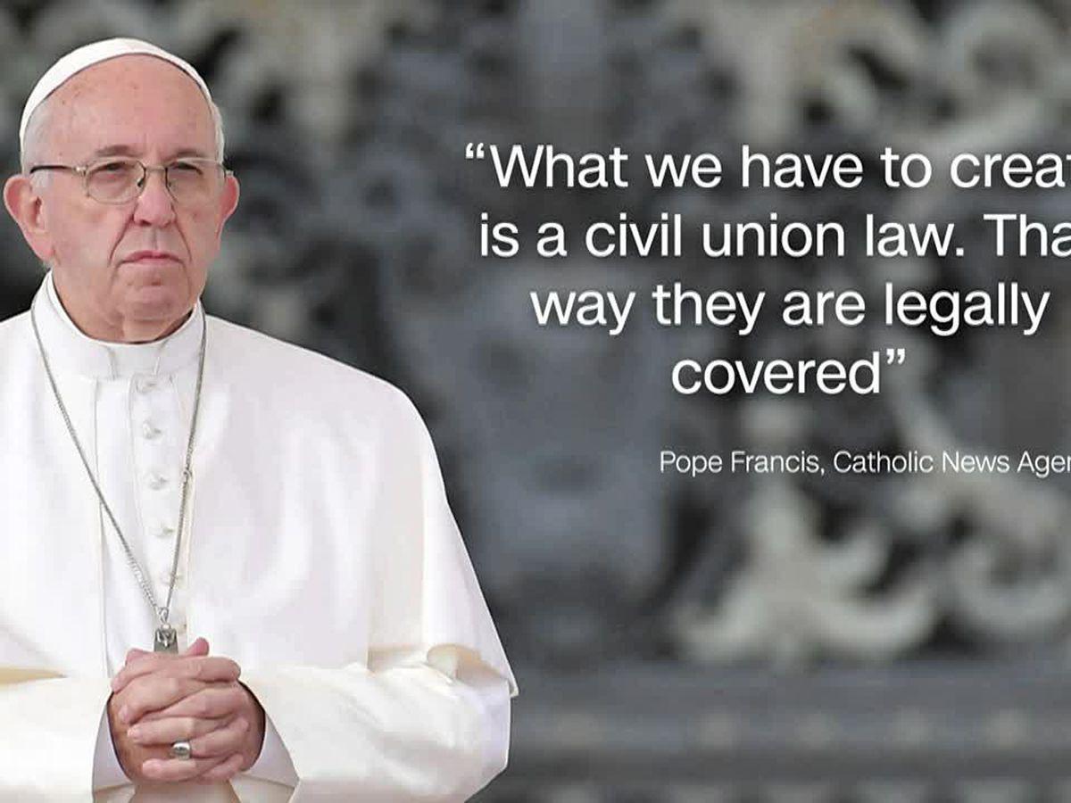 Plot thickens over origins of pope's civil union endorsement