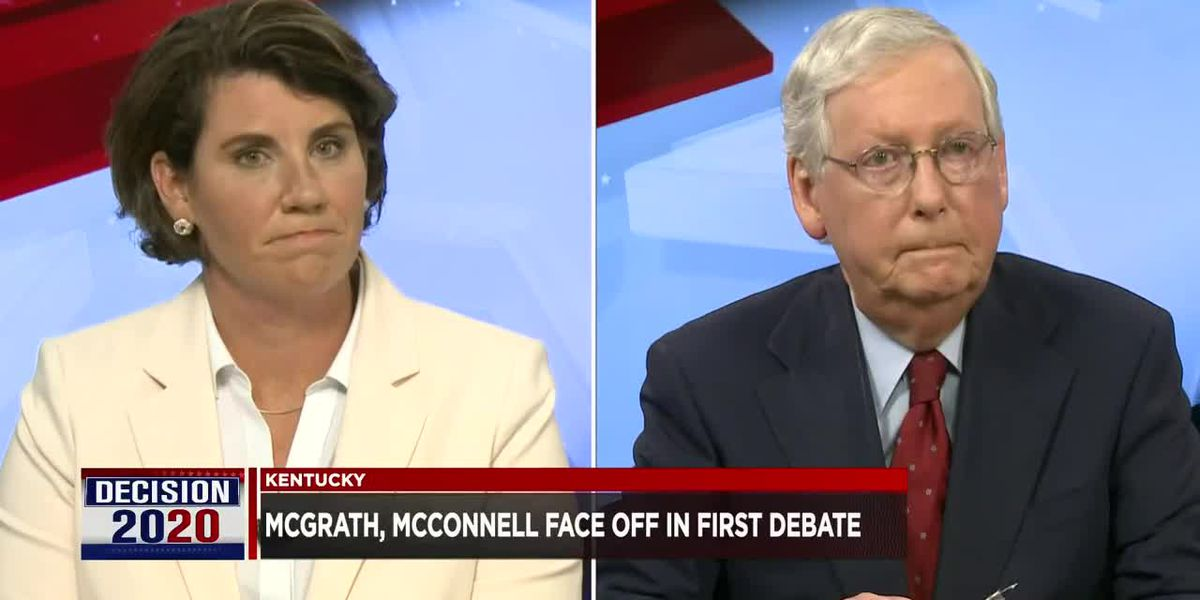 McConnell and McGrath debate over COVID-19, term limits in race for Senate