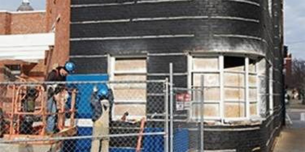 Blue steel panels to be re-installed on Greyhound station