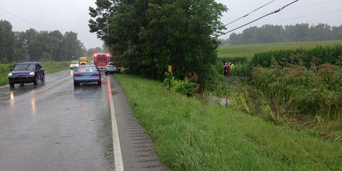 Wet conditions blamed for Henderson Co. wreck